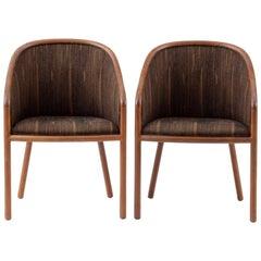 Pair of Elegant Teak Side Chairs