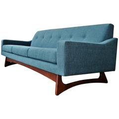 Adrian Pearsall Restored Sofa for Craft Associates in Teal Tweed