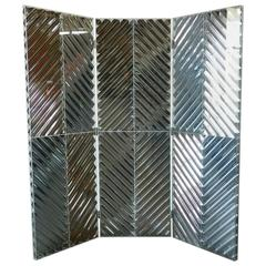 Mylar and Lucite Folding Screen