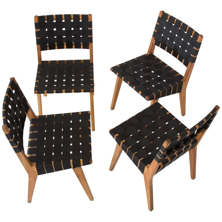 Set of four jens risom dining chairs for knoll at 1stdibs - Jens risom dining chairs ...
