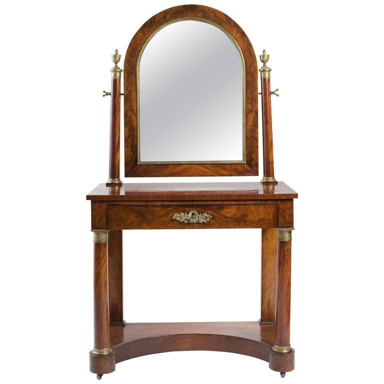 19th Century Empire Dressing Table