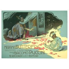 Miniature Italian Art Nouveau Period Opera Poster by Hohenstein