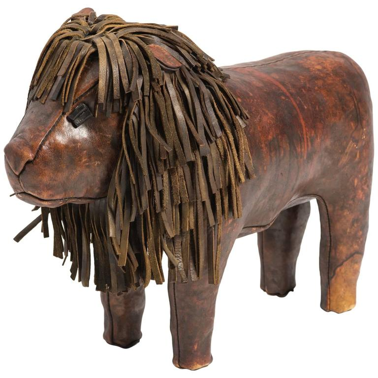 Remarkable Dimitri Omersa Leather Lion Footstool At 1Stdibs Beatyapartments Chair Design Images Beatyapartmentscom
