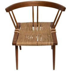 George Nakashima Dining Chair with Woven Grass Seat