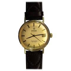 14-Karat Gold Omega Seamaster De Ville Wrist Watch
