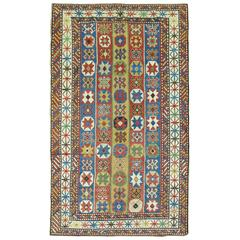 Decorative Antique Caucasian Rug