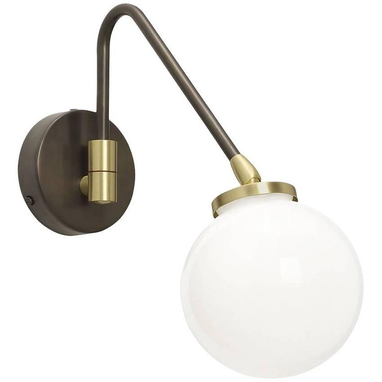 Array Single Opal Wall Light For Sale At 1stdibs