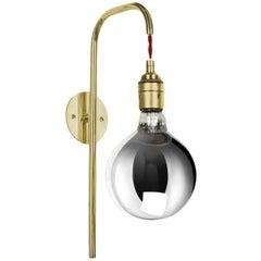 Big Bulb Wall Light in Brass