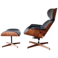George Mulhauser for Plycraft Mister Lounge Chair and Ottoman