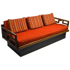 Mid-Century Sofa on Plinth Base