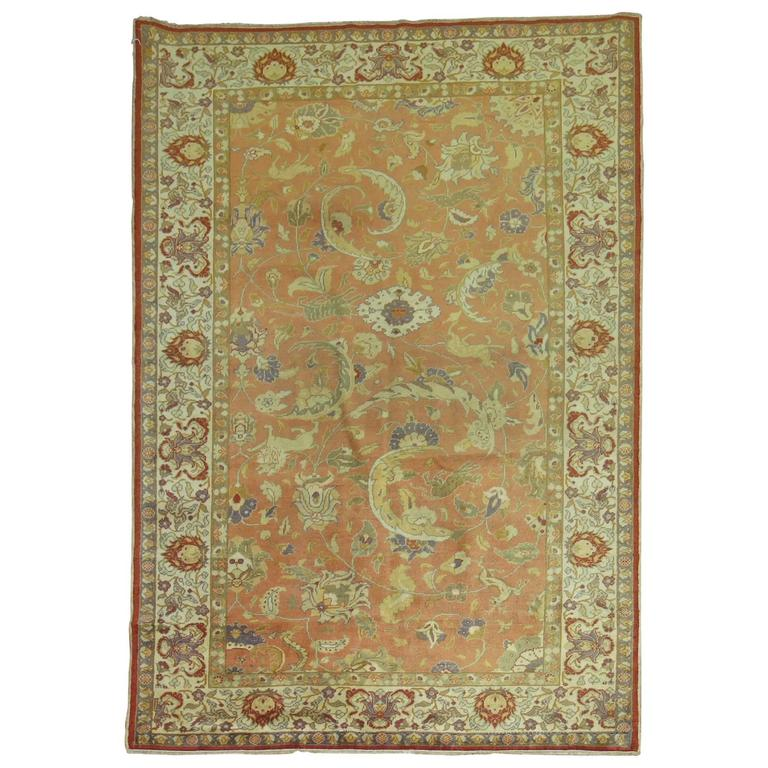 Lions and Tigers Turkish Sivas Pictorial Rug