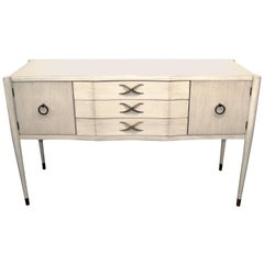Paul Frankl for Brown Saltman Credenza in a White Wash Finish