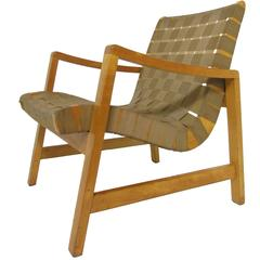 Jens Risom Lounge Chair with Original Webbing for Knoll, circa 1950s
