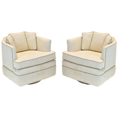Pair of Steve Chase Mid-Century Modern Swivel Chairs.