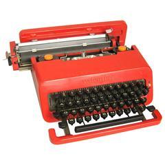 Ettore Sottsass Red Valentine Olivetti Mid-Century Typewriter