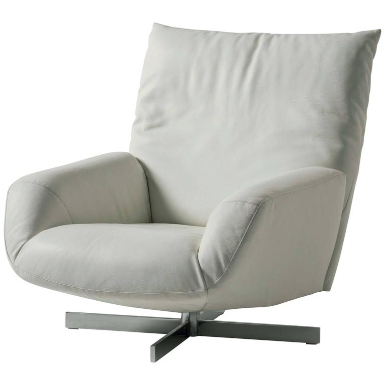 Edra Chiara Armchair With Swivel Base For Sale At 1stdibs