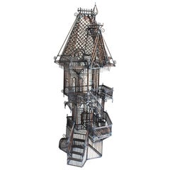 Rare Victorian House Metal Sculpture by Guy Pullen