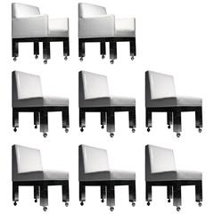 Paul Evans Set of Eight Cityscape Dining Chairs