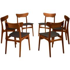 Danish Set of Schionning and Elgaard Teak Dining Chairs