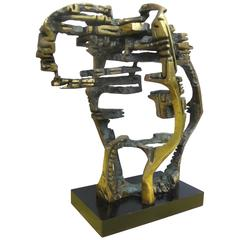 """Large and Important Bronze Sculpture """"Cabeca Espacial"""" by Hugo Rodrigues"""