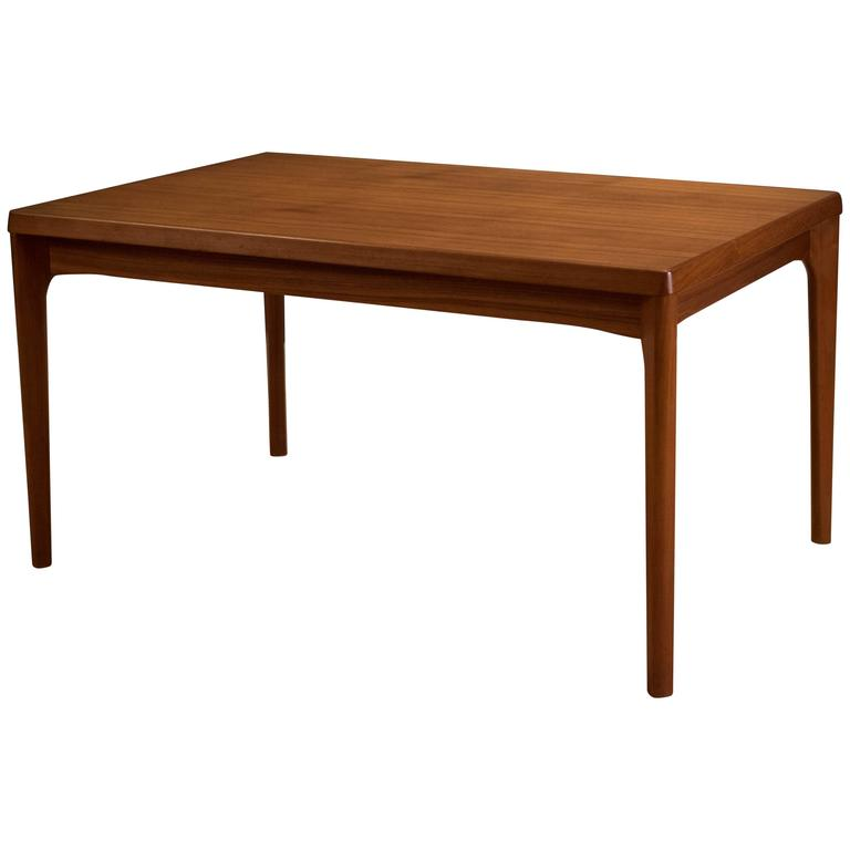 Danish Teak Dining Table by Henning Kjaernulf For Sale