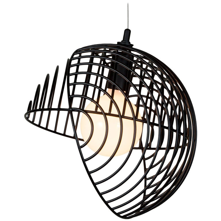 Dana Pendant Light, Black from Souda, Made to Order For Sale