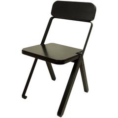 Profile Folding Chair, Black and Black, from Souda, Made to Order