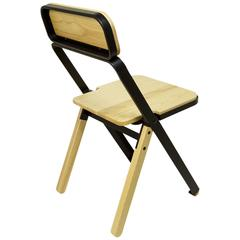 Profile Folding Chair, Black and Natural, from Souda, Made to Order