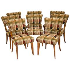 Mid-Century Set of Eight Dining Chairs by Paul Laszlo for Brown Saltman