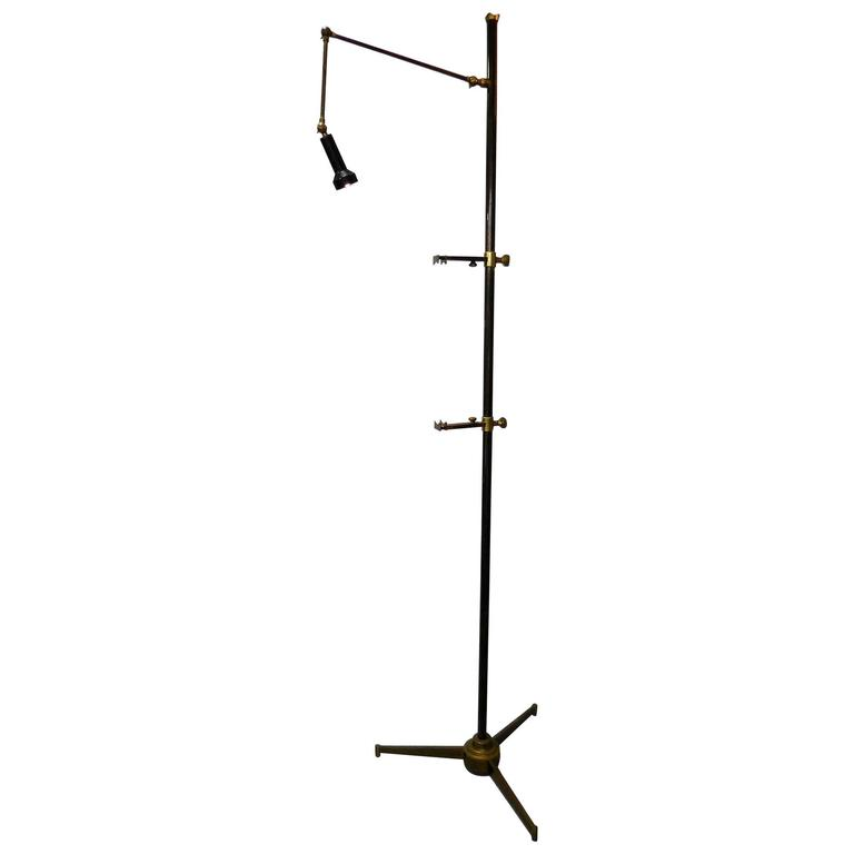Arredoluce Signed Easel Floor Lamp by Angelo Lelli, 1950s