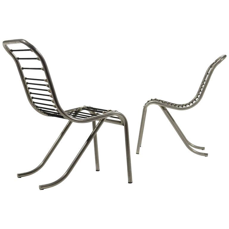 Pair of René Herbst Sandows Chairs 1