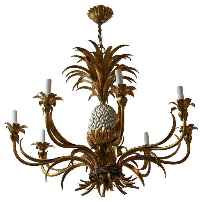 Large gilt italian pineapple chandelier for sale at 1stdibs large gilt italian pineapple chandelier for sale aloadofball Gallery
