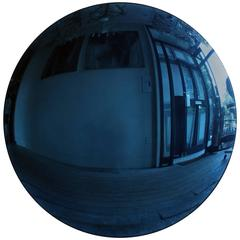 Large Blue Convex Mirror