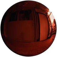 Large Antiqued Copper Convex Mirror