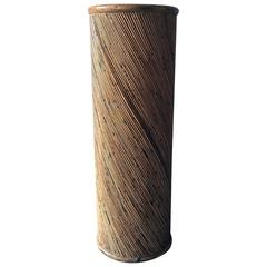 20th Century Cylindrical Bamboo Pedestal