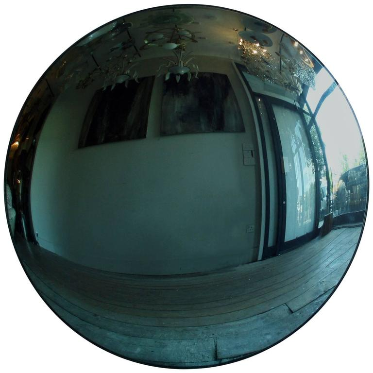 Large Aqua Blue Convex Mirror For Sale At 1stdibs