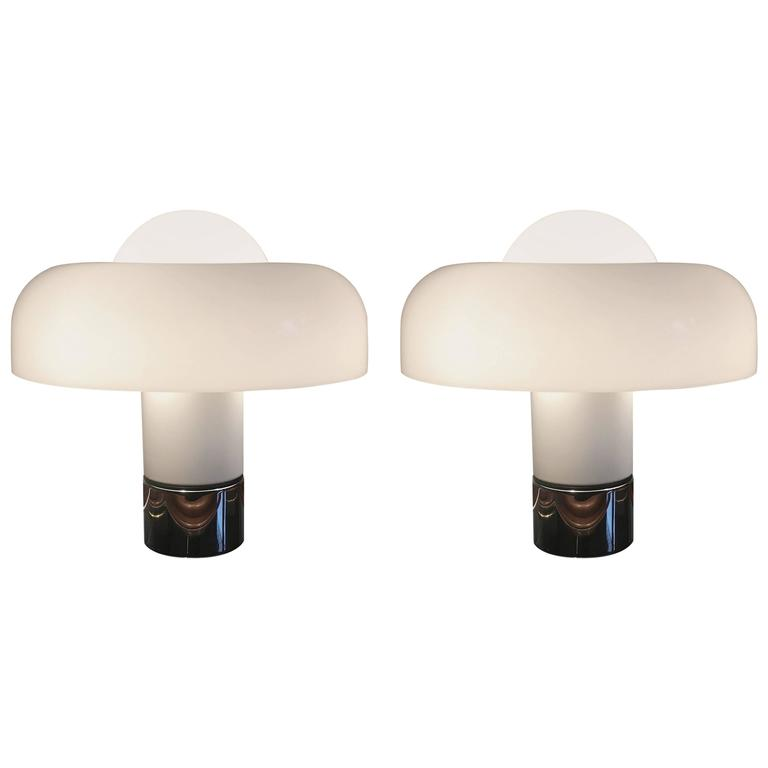 Pair of Brumbury Lamps by Luigi Massoni for Harvey Guzzini, Italy, circa 1970