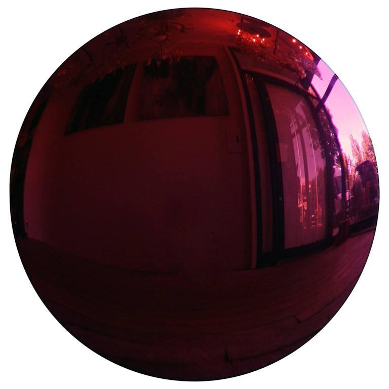Large Purple Convex Mirror