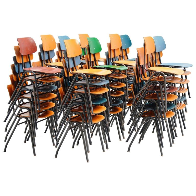 Stacking Chairs Set by Mauser Germany, 1970