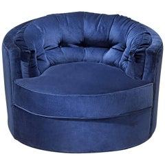 Kalaha Armchair in Blue Velvet or Turquoise Velvet