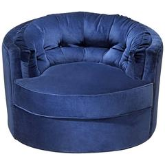 Kalaha Armchair in Blue Velvet or Turquoise Velvet