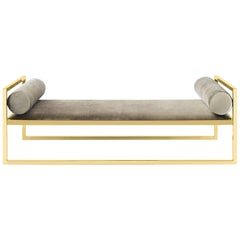 Grand Avenue Daybed in Gold Finish