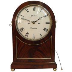 English William IV Figured Mahogany Bracket Clock