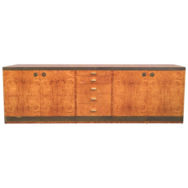 Elegant sideboard attributed to willy rizzo for sabot at for Mobili willy rizzo