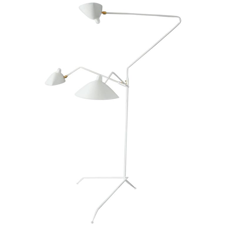 Serge mouille three rotating arms floor lamp for sale at Serge mouille three arm floor lamp