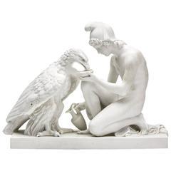 Bertel Thorvaldsen Zeus & Ganymede Parian Figure, 19th Century