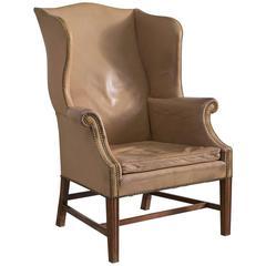 Early Peter Hvidt & Orla Mølgaard Nielsen Wingback Chair, Denmark, 1940s