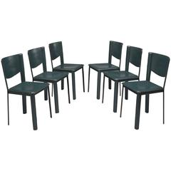 Six Dining Chairs by Grazzi and Bianchi for Enrico Pellizzoni, Italy, 1988