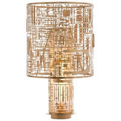 Disarmante Brass and Glass Table Lamp
