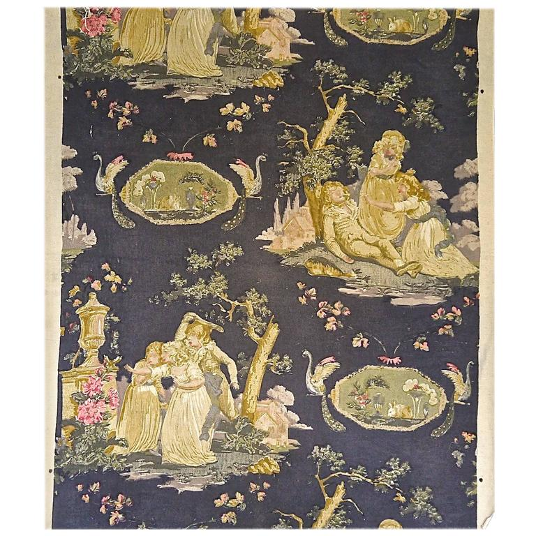 Toile with Children French Early 20th century
